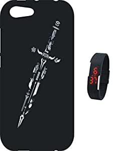 BKDT Marketing Printed Silicon Soft Back Cover for Vivo Y53 with Digital Watch