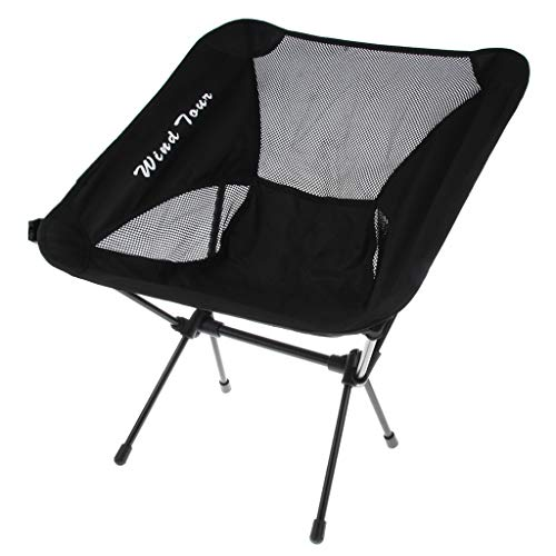 B Baosity Chaise de Camping Pliable Siège Arrière Chaise de Plage Pique Nique Durable - Noir