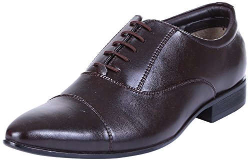 Royal Kurta Tag 7 Men's Synthetic Oxford Shoes 10 Brown