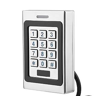 ASHATA RFID Türöffner Codeschloss, Wasserdichte Tür Zutrittskontrollsystem Access Control System,RFID-Karten Sicherheit Tür Zugriffskontrolle Metall Türöffner Passwort Code