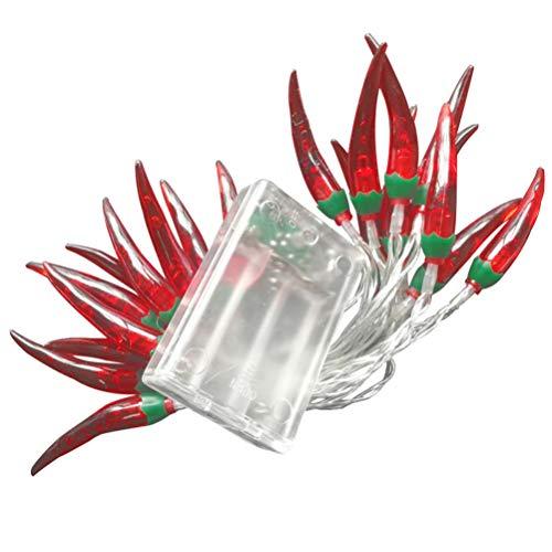 BESPORTBLE 5 Meter Chili lichterketten 50 LEDs batteriebetriebene dekorative Lichter für Weihnachten Halloween Hochzeit Camping Dekoration (ohne Batterie)
