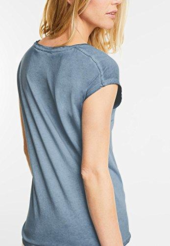CECIL Damen Neon Wording Shirt deep blue (blau)