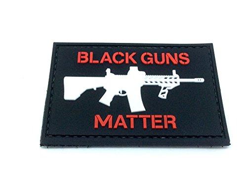 e Pistolen Materie PVC Airsoft Paintball Klett Emblem Abzeichen (Rot) ()