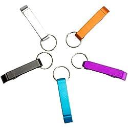 Dosige 5 Piezas Key Chain abrebotellas de cerveza / bolsillo pequeño garra de la barra llavero de bebidas Personalidad de la Moda Llavero Abridor creativo Coche Llavero Colores aleatorios y diversos 2.5 x 2.3 x 0.5 pulgadas
