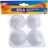 MP PM707-2 - Pack de 4 bolas de polestireno, 60 mm