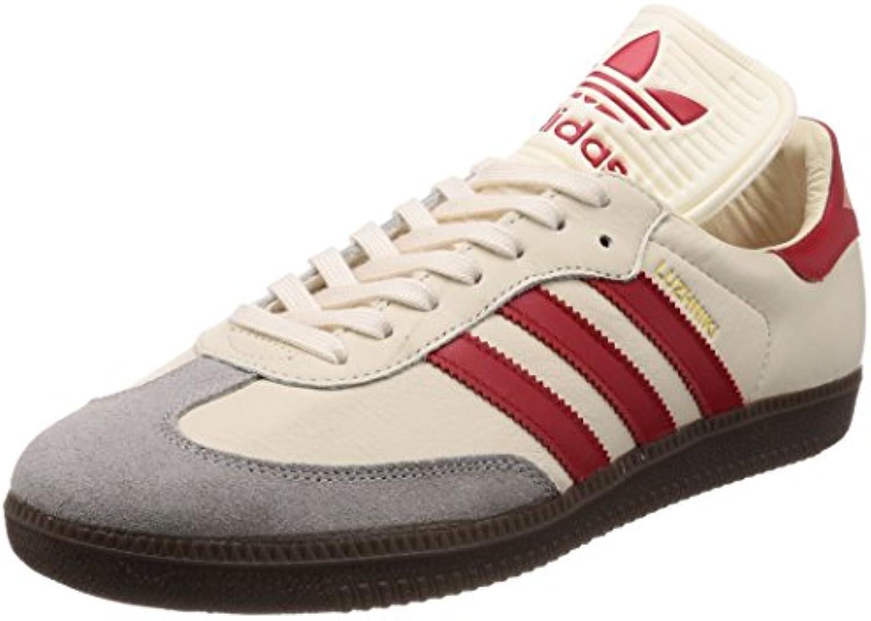 Adidas Samba Classic OG Creme White Red Größe: 842 Farbe: Beige