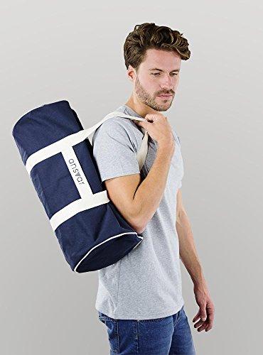 Sporttasche ansvar III aus Bio Baumwoll Canvas - Hochwertige Damen & Herren Sporttasche, Duffle Bag aus 100% nachhaltigen Materialien - mit GOTS & Fairtrade Zertifizierung, Farbe:blau - 3