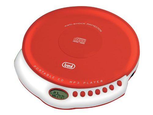 Trevi CMP 498 Lettore CD Portatile con Anti-Shock, Rosso