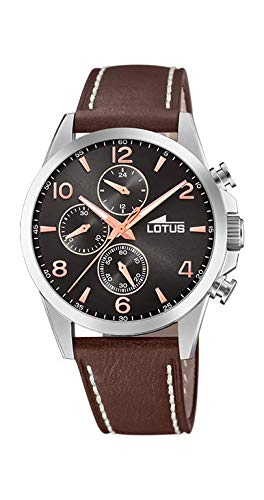 f48ef746654d Lotus Reloj Cronógrafo para Hombre de Cuarzo con Correa en Cuero 18630 3