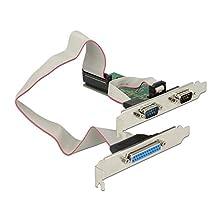 DeLOCK 89556 Carte et Adaptateur d'interfaces Parallèle, Série Interne - Cartes et adaptateurs d'interfaces (PCIe, Parallèle, Série, Profil Bas, PCIe 2.0, RS-232, Vert)