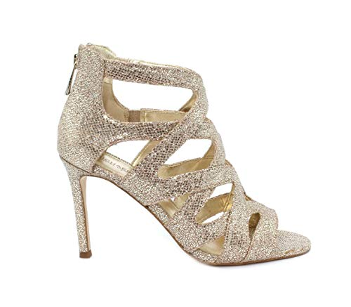 Michael Kors Sandalo Annalee Sandal Glitter 40S9ANHA1D Silver/Sand Taglia 40 - Colore Sabbia