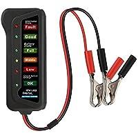 Lukzer 12V Digital Battery Tester Alternator for Vehicles with 6 LED Lights
