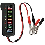Lukzer 12V Digital Battery Tester Alternator for Vehicles with 6 LED Lights