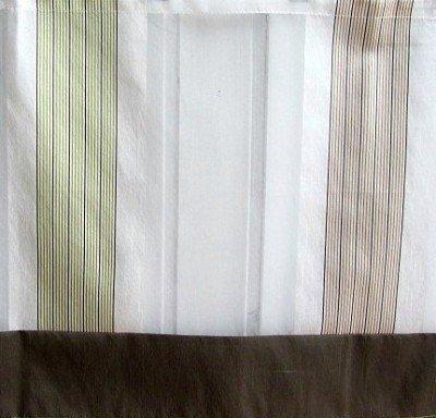 Raffrollo Braun Grün Bändchenrollo 100 B x 135 cm H
