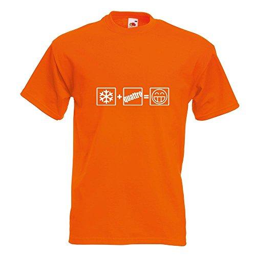KIWISTAR - Winter Quattro T-Shirt in 15 verschiedenen Farben - Herren Funshirt bedruckt Design Sprüche Spruch Motive Oberteil Baumwolle Print Größe S M L XL XXL Orange