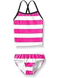 Kanu Surf Girls' Layla Stripe Tankini Swimsuit