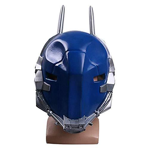 Ritter Helm Cosplay Halloween Maske Halloween Weihnachtsshow Leistung Film Spiel Requisiten PVC Maske,Blue-OneSize ()