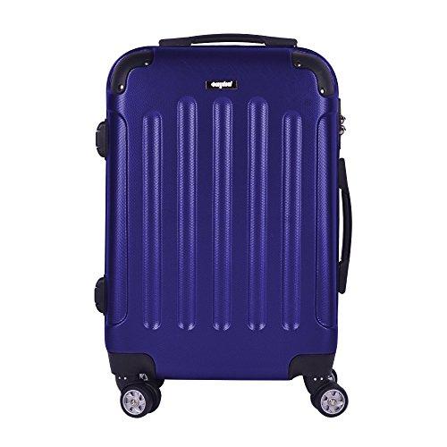 Valigia bagaglio 71cm 80L - Sunydeal - ABS ultra leggero - 4 Ruote - Blu scuro - Garanzia 1 anni