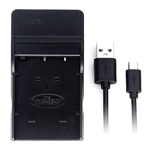 NP-40 Ultra delgado USB cargador para Fujifilm FinePix F402, F403, F420, F455, F460, F470, F480, F610, F650, F700, F710, F810, F811, J50, V10, Z1, Z2