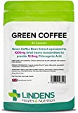 Lindens Green Coffee 1000mg Capsules | 60 Pack | Standardised to Provide 12.5mg of Chlorogenic Acid, Rapid Release Capsules Allow for Faster Absorption by The Body