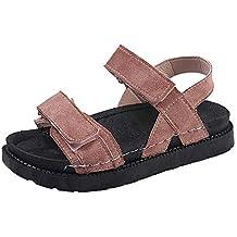 ALIKEEY Mujeres Verano Sandalias De Playa Zapatos Planos Abierto Toe Antideslizante Sandalias Casuales Futbol Hombres Zapatos