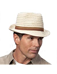 Adults Unisex Braid Trilby with Narrow Brim and Band Beige 59cm