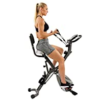 Sunny Health & Fitness Unisex Adult SF-B2710 Total Body Bike - Silver, One Size