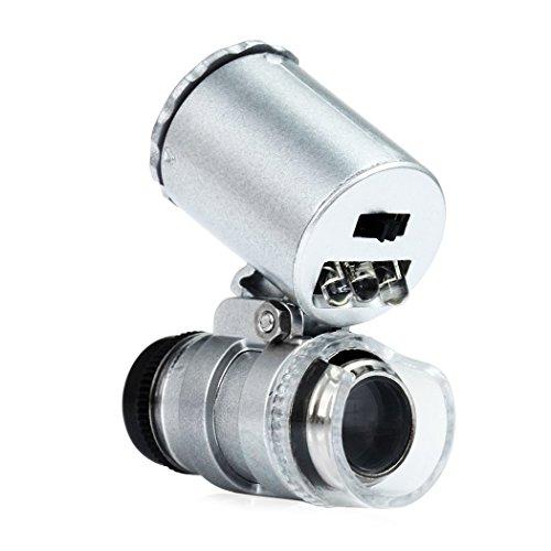 EgoEra Tragbaren Handheld Mini 60x Mikroskop Taschenmikroskop Lupe Währung Erfassen mit LED und UV...