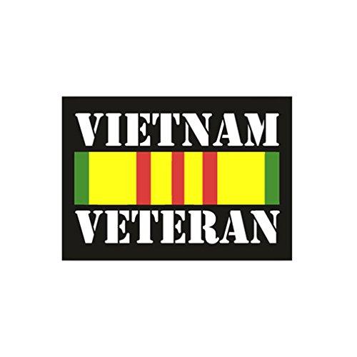 Aufkleber/Sticker Vietnam Veteran Abzeichen Orden Ribbon 5x7cm #A970