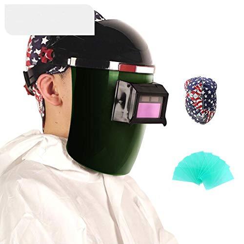 Preisvergleich Produktbild HHQ Schweißmaske,  automatische Dimmen Kopf montiert Lightening Mask Welder Schweißkappe Argon Arc Welding Glasses Protection (Farbe : 5)