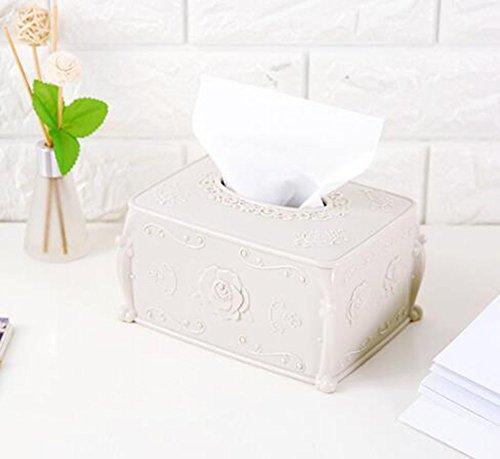 OFVV Qearly Vintage Rechteckigen Kunststoff Kosmetische Tücher Box Toilettenpapierhalter Tissue Box...