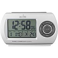 Acctim 71117 Denio Radio Controlled Alarm Clock, Silver - ukpricecomparsion.eu