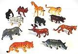 Zootiere Tiere aus Plastik 12 Stück 5-7cm jedes einzeln verpackt
