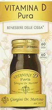 Dr. Giorgini Integratore Alimentare, Vitamina D Pura Pastiglie - 30 g