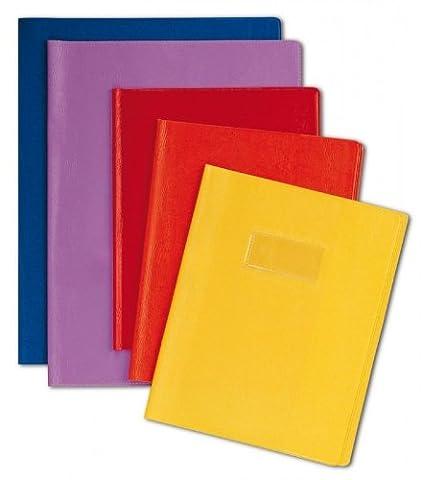 Clairefontaine 72403chargeur C 24x 32cm Cahier d'exercices d'écran avec porte étiquette–Intensive Rouge