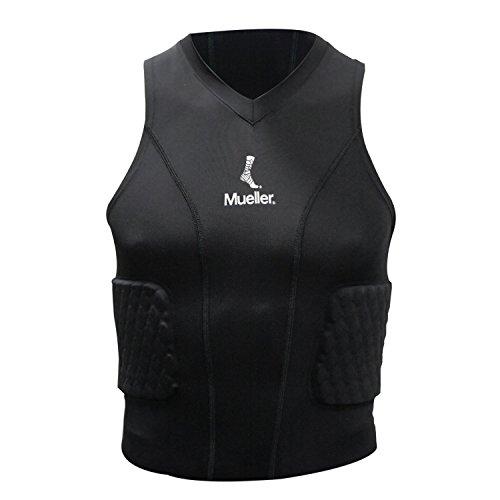 Mueller 6091-JUG-L Diamond gepolstertes Shirt, schwarz, Junge - L (Shirt Gepolsterte Jungen)