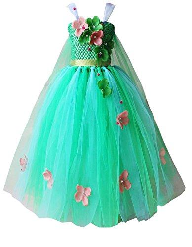 Kosplay Mädchen Prinzessin Tutu Kleid Kostüm Eiskönigin Kleid für Mädchen Schmetterling...