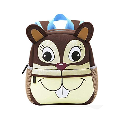 HCFKJ Schultasche, Kind Rucksack Kleinkind Kind Schultaschen Kindergarten Cartoon Schulter Bookbags (A)