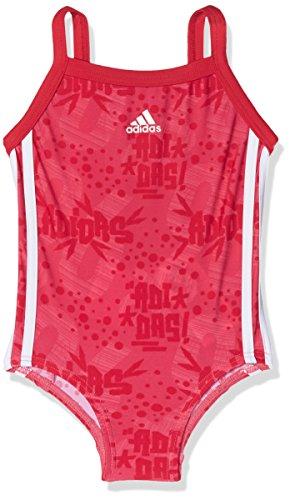 adidas Mädchen Badeanzug, Real Pink/White, 104