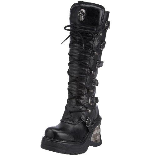 New Rock 8272-s1, Damen Stiefel , Gr. 39 (Herstellergröße: 6), Schwarz (Schwarz)