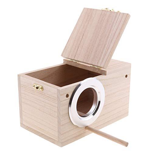 Box, Sittich Nistkasten Bird Nesting Feeding Station Käfig Papagei Klare Sichtfenster Vogelhaus Zucht Box für Lovebirds, Parrotlets Paarungsbox(M) ()