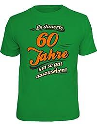 Original RAHMENLOS® Geschenk-T-Shirt zum 60. Geburtstag - es dauerte 60 Jahre um so gut auszusehen