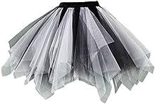 Feoya Adultos Mujeres Princesa Mini Falda de Tutú Enagua Disfraz para Danza Ballet Fiesta Escenario Fotografía Pettiskirt