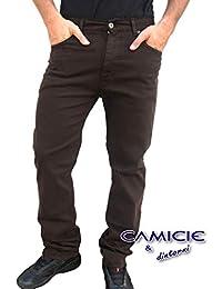 HOLIDAY JEANS Pantalone MOD. Panama (Pesante/Mezza Stagione) Made in Italy Uomo Cotone TG. 46 48 50 52 54 56 58 60 Elasticizzati Comfort