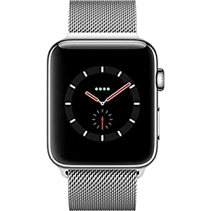 Apple Watch Series 3 42mm (GPS plus LTE) Stainless Steel Milanese Loop Plata SIM Free