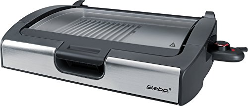 Steba VG200 BBQ Tischgrill mit Glasdeckel (Elektro-indoor-steak-grill)