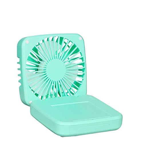 Externe Außen-gebläse (Bearbelly Multifunktions-USB-Faltlüfter Handyhalter Make-up-Spiegel-Box Leistungsstarker tragbarer Desktop-Lüfter für den Heimschlafsaal im Freien, kreatives Geschenk des Schülers)