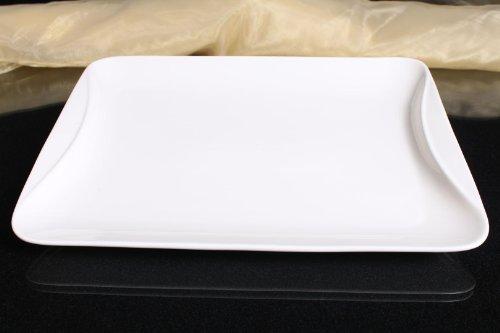 Teller Servierplatten Gastronomie Servierteller Porzellan Weiß 35,5/26,5 cm