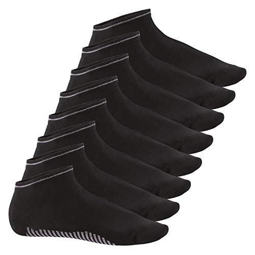 Celodoro 8 Paar Sneaker Socken Smart Walk schwarz - 39-42