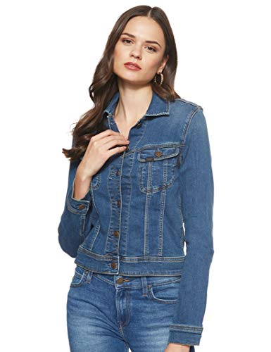 Lee Damen Slim Rider' Jeansjacke, Bleu (Ninety Nine ZV), Small